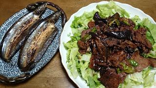 【焼肉サラダとサンマ】可能な限り複数のタンパク質食品を摂る