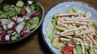 【さっぱり蛋白質サラダ】暑い日におすすめのタコ酢とうすあげ料理