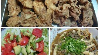 【唐揚げ+なめこ蕎麦】動物蛋白質と植物蛋白質を同時に摂ってアミノ酸スコア上昇