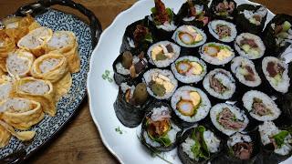 【土佐巻き寿司】バラエティー豊かなタンパク質食品を具材に彩りもよく