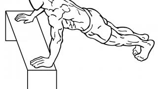 【インクラインプッシュアップ】筋トレ初心者むきの腕立て伏せのやり方