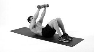【ダンベルクランチ】腹直筋上部を効率的に鍛えるダンベル腹筋