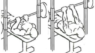 【スミスマシンナローベンチプレス】上腕三頭筋と大胸筋内側の筋トレ