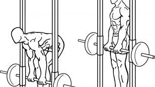 【スミスマシンデッドリフト】背筋を総合的に鍛えられるマシン筋トレ