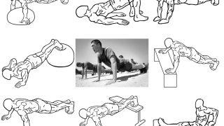 【使う筋肉別の腕立て伏せ】大胸筋・三角筋・上腕三頭筋以外に背筋・体幹・下半身も