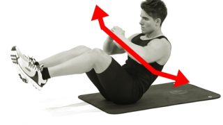 【ロシアンツイスト】腹直筋と腹斜筋に同時効果のある腹筋自重筋トレ