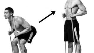 【チューブグッドモーニング】脊柱起立筋のゴムバンド筋トレ方法