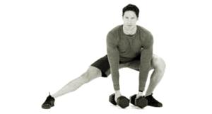 【ダンベルサイドランジ】内転筋を強くしスポーツ競技の横ステップを速くする筋トレ方法
